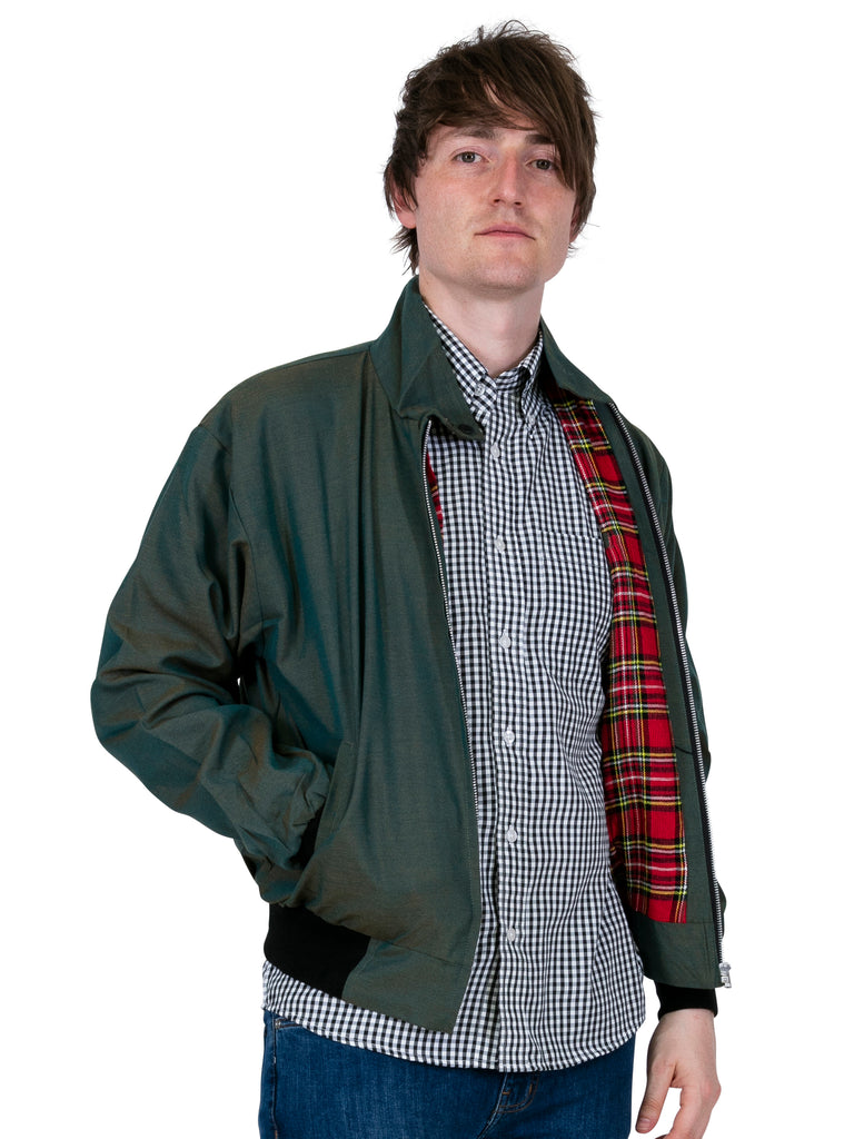 Tonic Green Vintage Harrington Jacket for Men