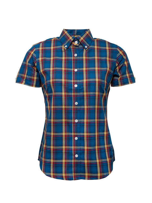 Limited edition Ladies Blue check shirt - LSS 16
