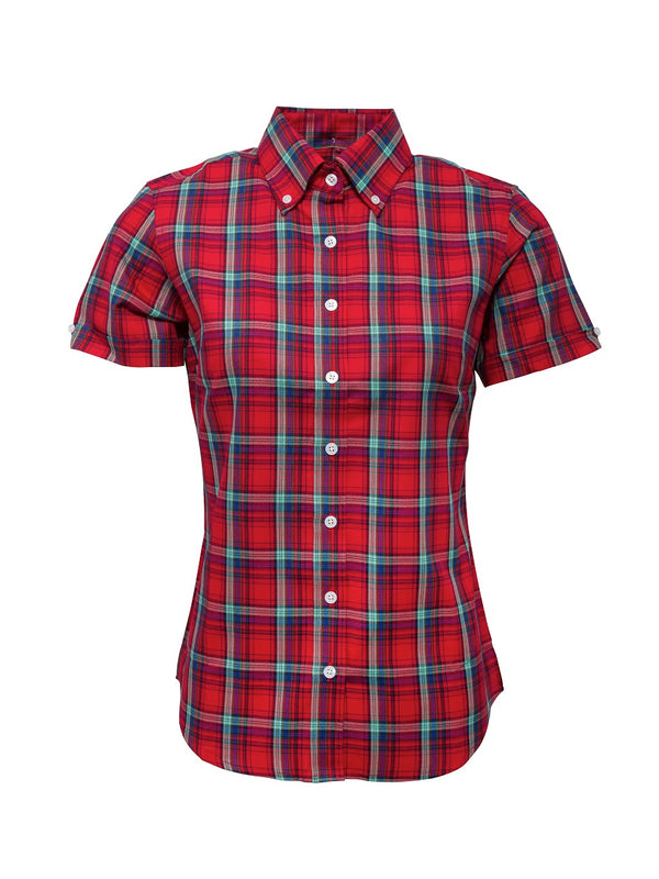 Limited edition Ladies Red check shirt - LSS 16