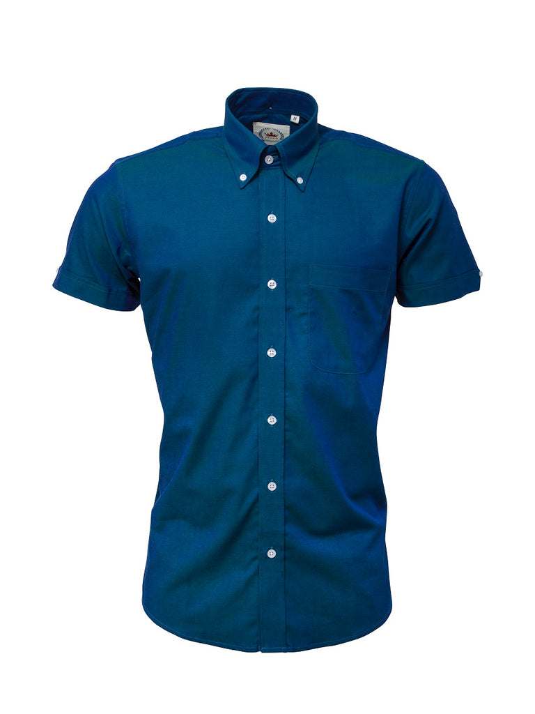 **NEW** Shirt Short Sleeve  - Two Tone Blue