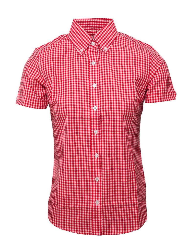 Ladies Gingham shirt - Red