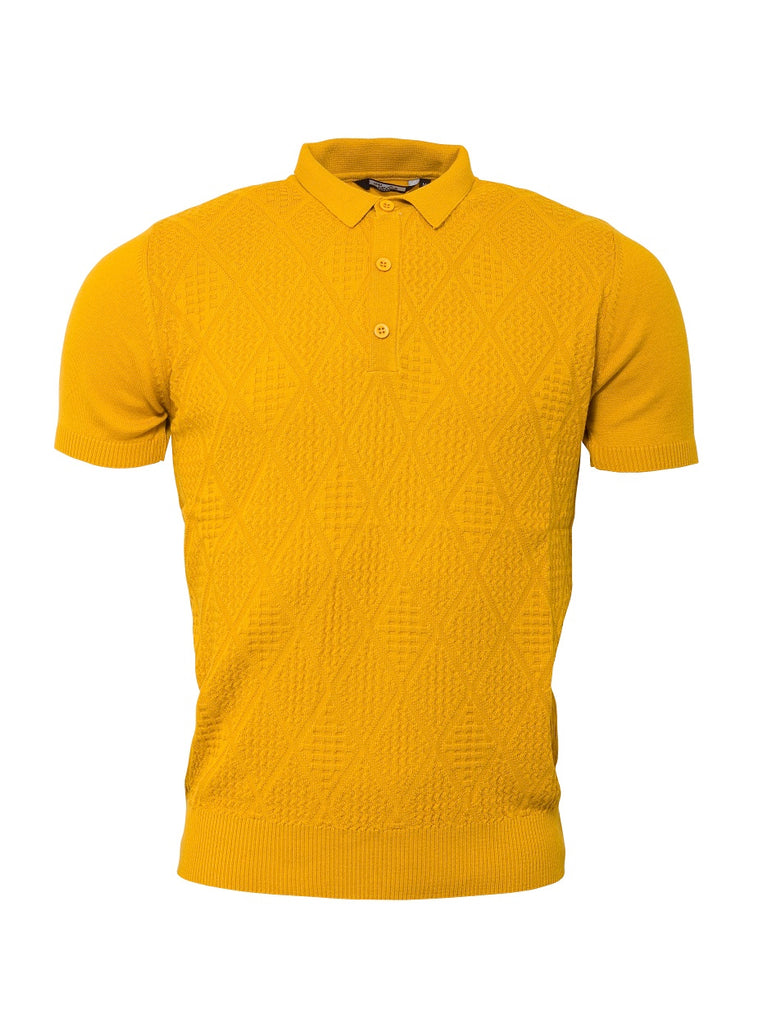 **NEW** Knitted Polo - Mustard - VS-4