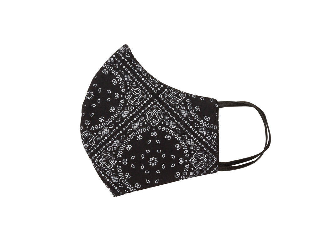 Mask - Black Bandana print