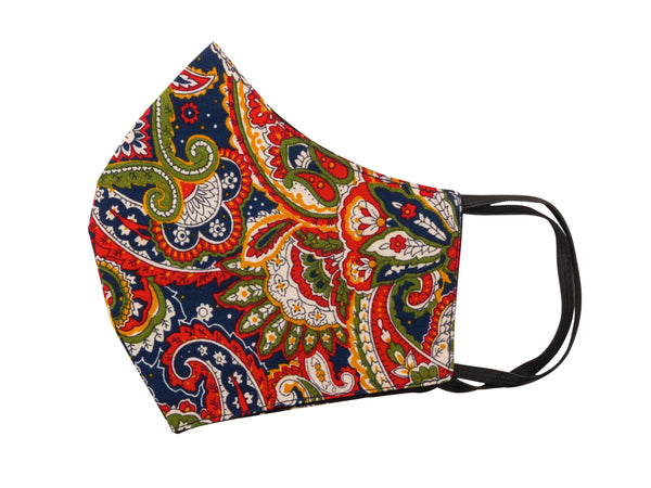 Mask - Navy Paisley PS9