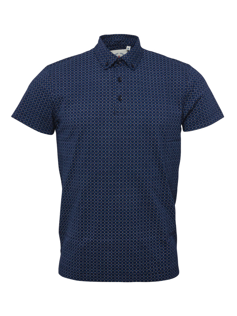 Men's Navy Printed Polo shirt - Polo 6