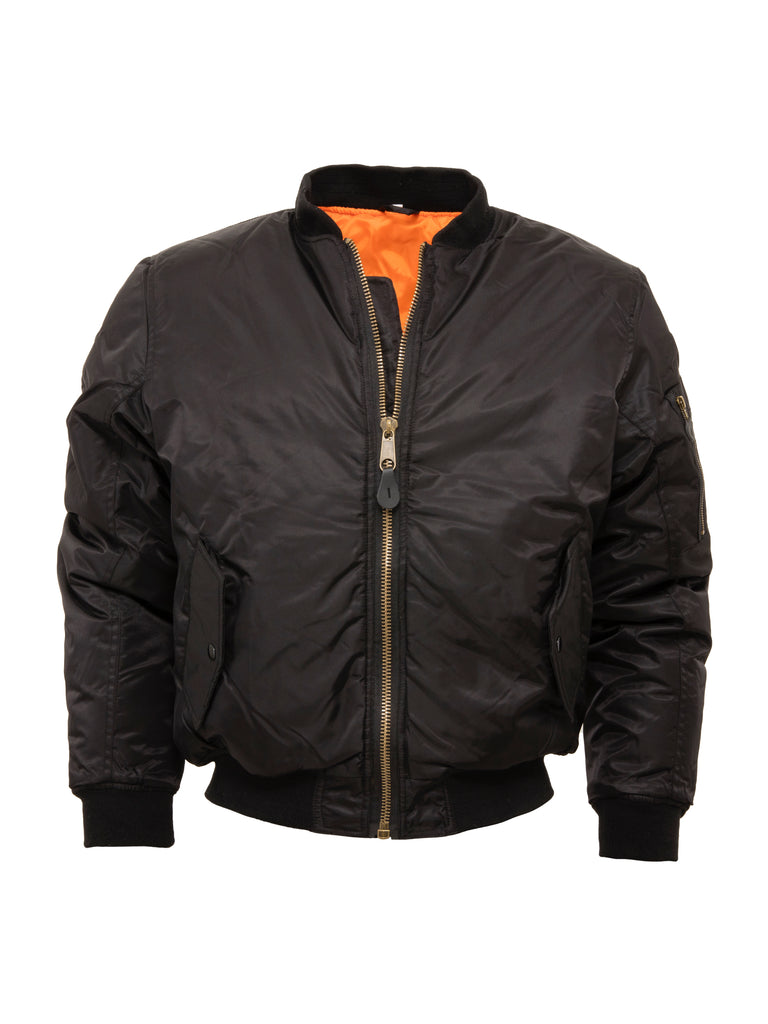Black Mens MA 1 Flight Jacket - MA 1