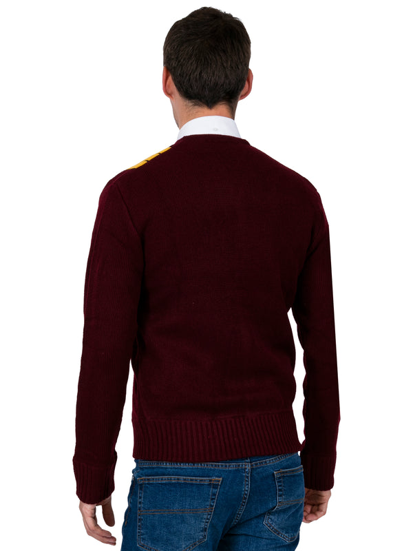 Two Tone Cardigan - Mustard & Burgundy