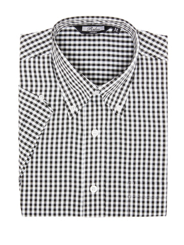 Gingham Print Short Sleeve Vintage Shirt in 4 Colours - GINGHAM