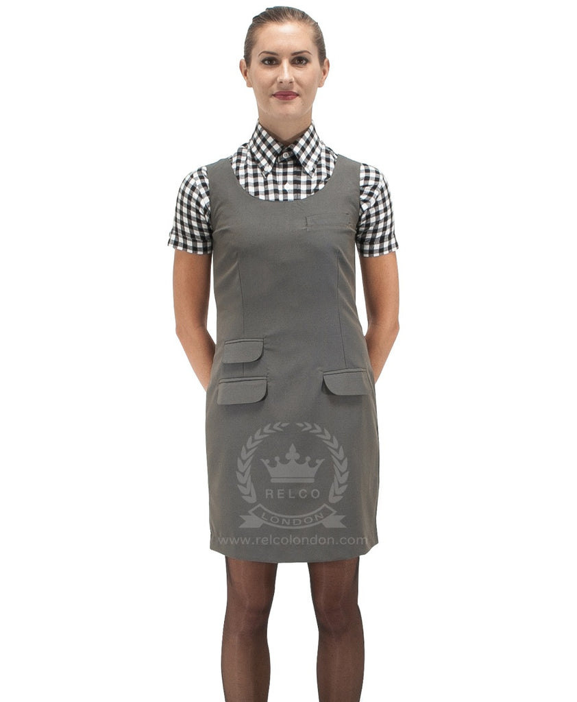 Ladies Green/ Gold Tonic Pinafore Dress