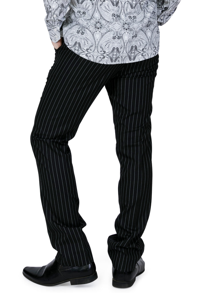 Vintage Style Men's Pinstripe Trousers
