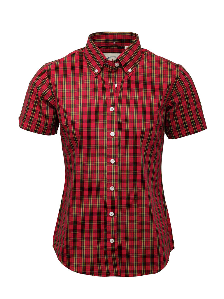 Ladies Red Tartan check shirt - TTN 01
