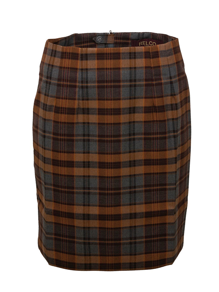 Grey Tartan Skirt - Fully Lined