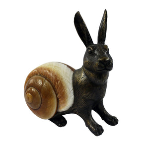 Rabbit Sculpture - Bronze & Seashell - Furniture