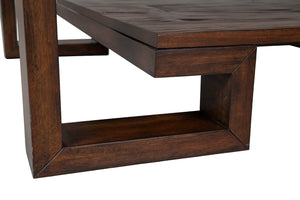 Bamboo Greek Key Cocktail Table - Furniture