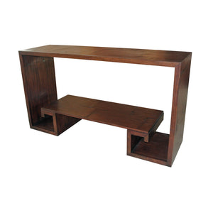 Bamboo Greek Key Console Table - Furniture