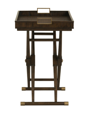 Curate Home Collection Hi-Lo Table in Light Brown