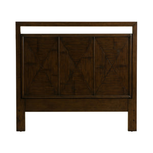 Curate Home Collection Bamboo Queen Headboard in Peninsula Finish
