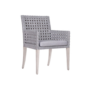 Leeward Woven Cane Arm Chair in Grey Cane - Furniture
