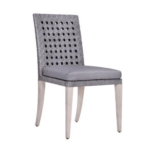 Leeward Woven Cane Side Chair in Grey Cane - Furniture