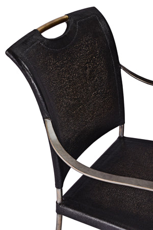 Canvas & Iron Arm Chair - Furniture