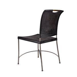 Canvas & Iron Side Chair - Furniture