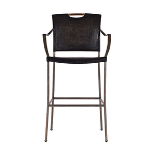 Canvas & Iron Bar Stool and Counter Stool - Furniture