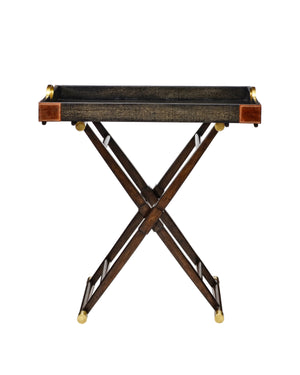 Worn Black Canvas Hi-Lo Table