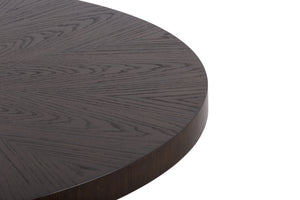 Ingenue Round Dining Table in Mocha Finish
