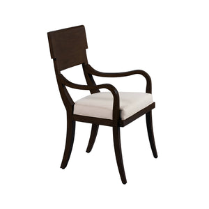 Chronograph Elliot Arm Chair Java Finish - Furniture