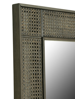 Leeward Octagonal Cane Floor Mirror - Furniture