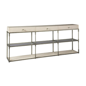 Creme Triple Console Table -
