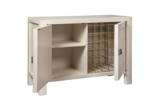 Creme Woven Door Chest -