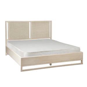 Creme Queen Cane Bed -