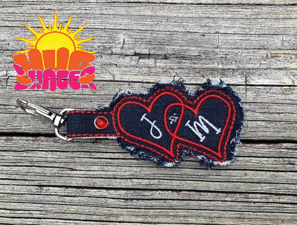 HL ITH Double Heart Fob HL6008