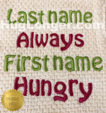 Always Hungry HL2366 embroidery file