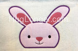 Applique Peeker Bunny and ITH Carrot Fob HL2184 Embroidery file