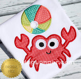 Applique Crab with Bonus Applique Beach Ball HL2319 embroidery file