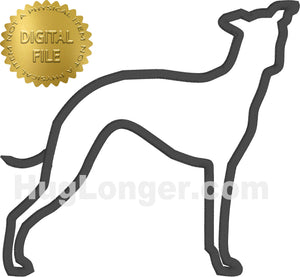 Applique Greyhound HL2513 embroidery file