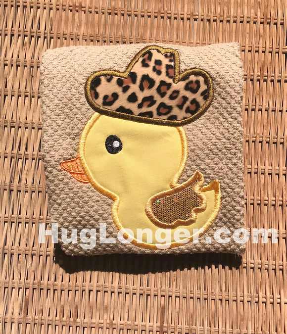 Applique Rubber Duck Cowboy HL2216 embroidery file