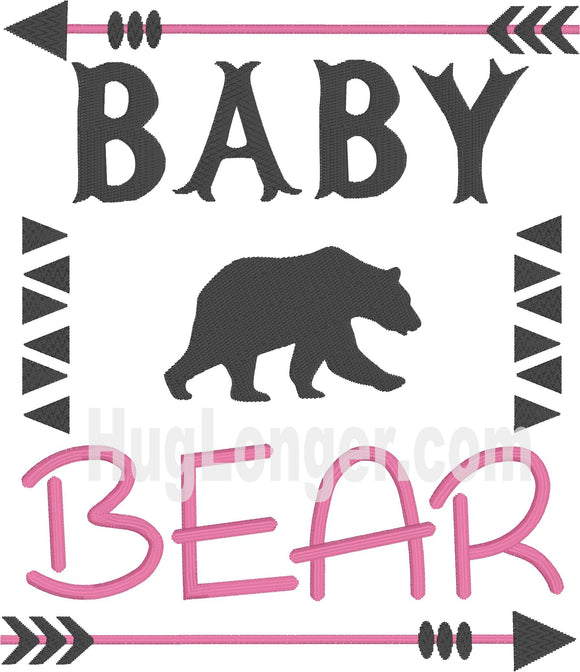 Embroidered Baby Bear Hl2199 embroidery file