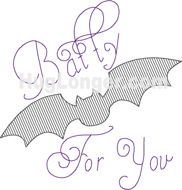 Sketchy Batty For You HL2384 embroidery file