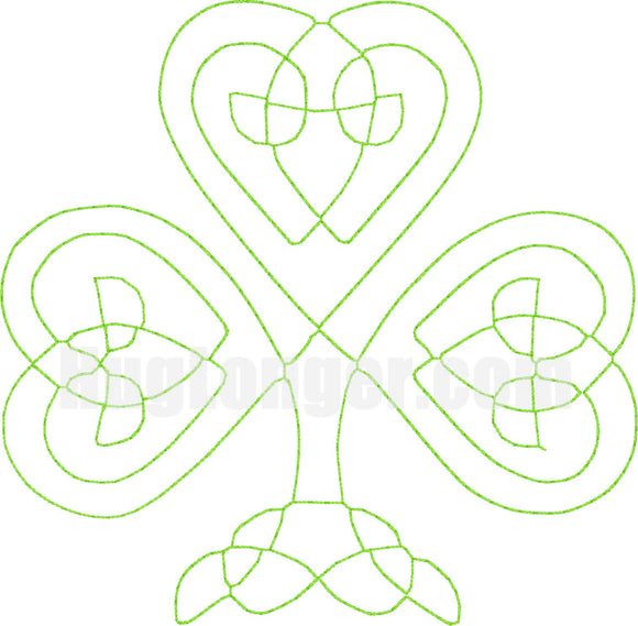 Bean Stitch Celtic Shamrock HL2174 embroidery file