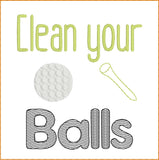 Clean Balls TP HL2406 embroidery files
