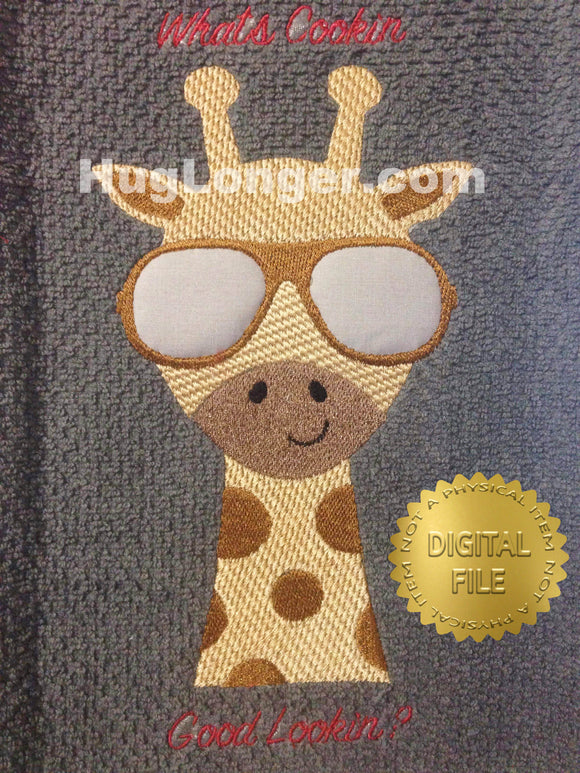 Cool Giraffe HL2339 embroidery file