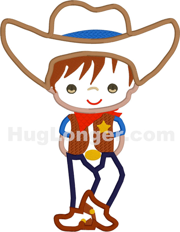 Applique Cowboy HL2221 embroidery file