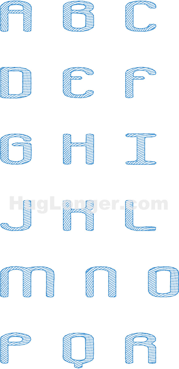Crackdown Font HL2179 embroidery file Now with BX!
