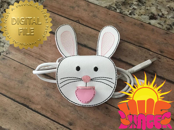 ITH Bunny Cord Wrap HL5768 embroidery files