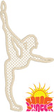 FSL Gymnast Ornament HL5746 embroidery files