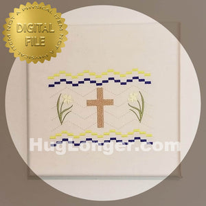 Faux Smocked Cross HL2491 embroidery files