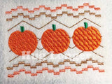 Faux Smocked Pumpkins HL5692 embroidery files